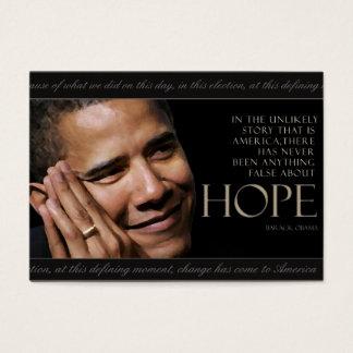 Cartão das citações de Obama
