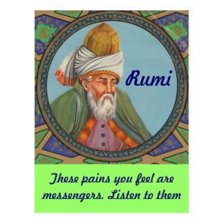 Cartão das citações de Rumi