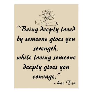 Cartão das citações do amor de Tzu do Lao