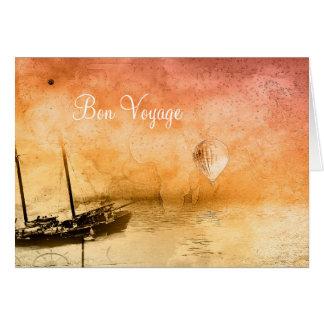 Cartão das citações do bon voyage de Steampunk