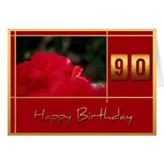 cartão das citações do rododendro do aniversário