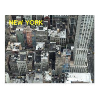Cartão das construções de NYC