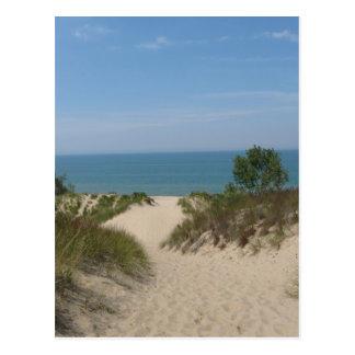 Cartão das dunas de Indiana