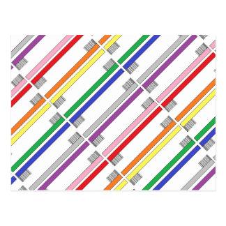 Cartão das escovas de dentes do arco-íris