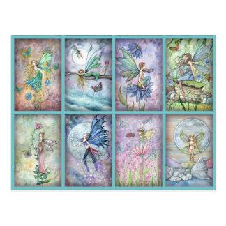 Cartão das fadas da flor de Molly Harrison