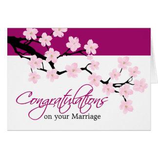 Cartão das felicitações da flor de cerejeira  