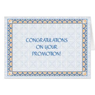 Cartão das felicitações da promoção dos padrões &