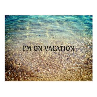 Cartão das férias da praia cartão postal