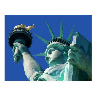 Cartão das férias do marco da estátua da liberdade