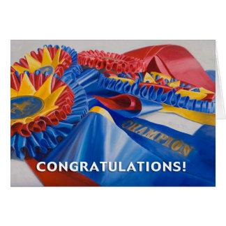 Cartão das fitas dos parabéns