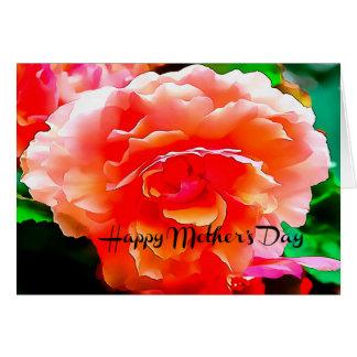 Cartão das flores da mãe