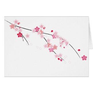 Cartão das flores de cerejeira