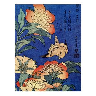 """Cartão das """"flores"""" de Hokusai"""