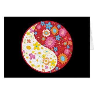 Cartão das flores de Yin Yang