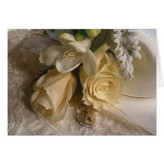 Cartão das flores para casamentos