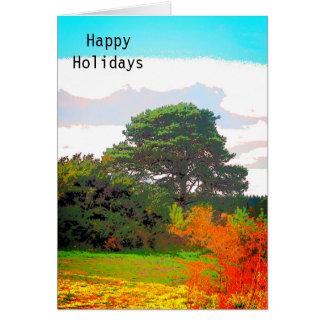 Cartão das folhas de outono