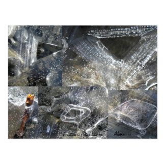 Cartão das formações de gelo