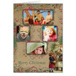 Cartão das fotos do Natal 4 do papai noel do vinta