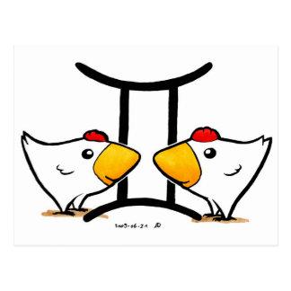 Cartão das galinhas dos Gêmeos
