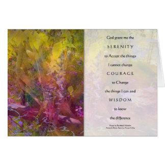 Cartão das glicínias da oração da serenidade