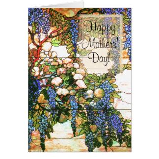 Cartão das glicínias do dia de mães