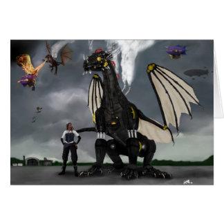 Cartão das guerras do dragão do vapor