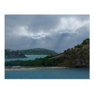 Cartão das ilhas do porto de Antígua