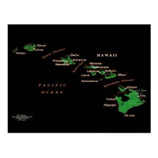 Cartão das ilhas havaianas