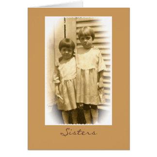 Cartão das irmãs