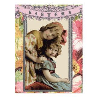 Cartão das irmãs da foto do vintage