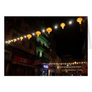 Cartão das lanternas #3 de San Francisco Chinatown