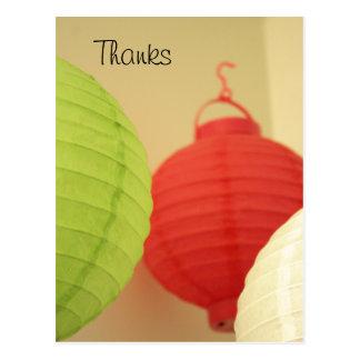 Cartão das lanternas de papel de arroz