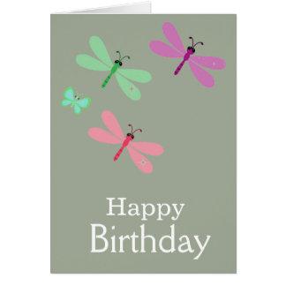 Cartão das libélulas do feliz aniversario