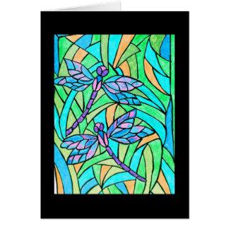 Cartão das libélulas do vitral