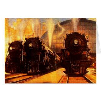 Cartão das locomotivas do rr da estrada de ferro