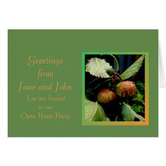 Cartão das maçãs