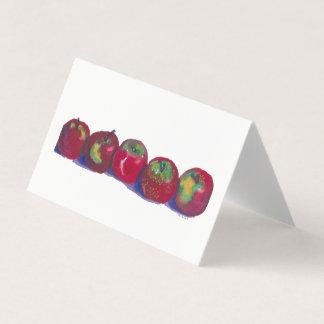 Cartão das maçãs de Macintosh