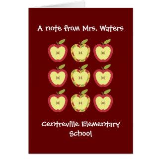 Cartão das maçãs do outono da queda