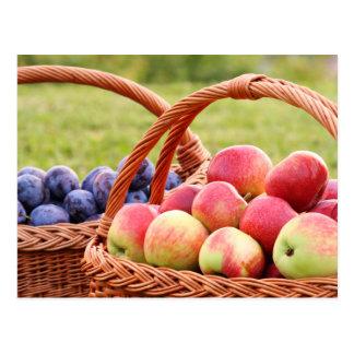 Cartão das maçãs e das ameixas