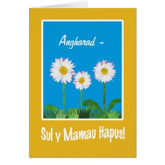 Cartão das mães das margaridas: Personalize: