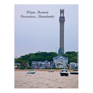 Cartão das MÃES de Provincetown do monumento do
