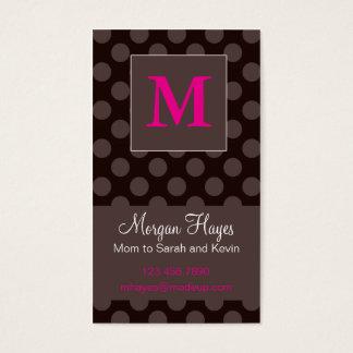 Cartão das mamães do chocolate