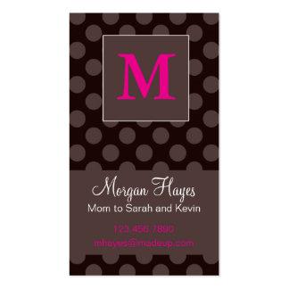 Cartão das mamães do chocolate modelo cartao de visita