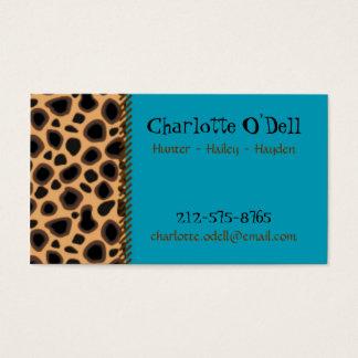 cartão das mamães do impressão do leopardo