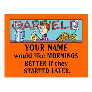 Cartão das manhãs de Garfield Logobox Cartão Postal