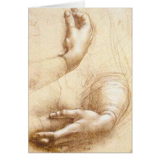 Cartão das mãos de da Vinci