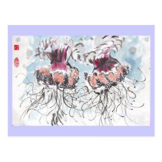 Cartão das medusa de Cephea