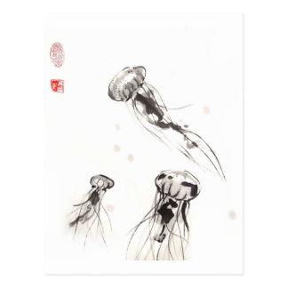 Cartão das medusa do Chrysaora