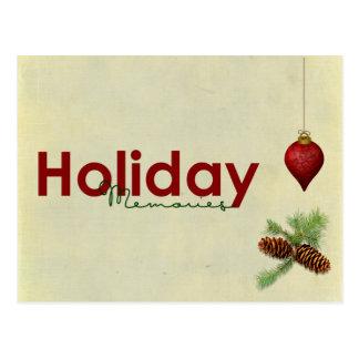 cartão das memórias do feriado