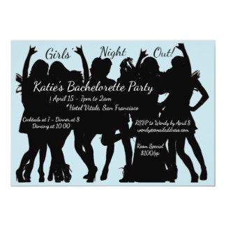 Cartão Das meninas da noite festa de solteira para fora